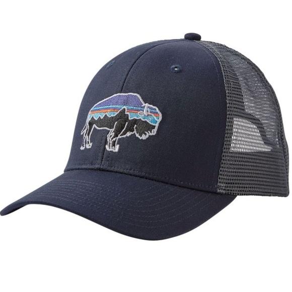 NWT Unisex Patagonia Fitz Roy Bison Trucker Hat 07a917db4873